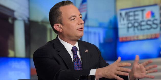 MEET THE PRESS -- Pictured: (l-r)  Reince Priebus, Chair, Republican National Committee, appears on 'Meet the Press' in Washington, D.C., Sunday August 28, 2016.  (Photo by: William B. Plowman/NBC/NBC NewsWire via Getty Images)