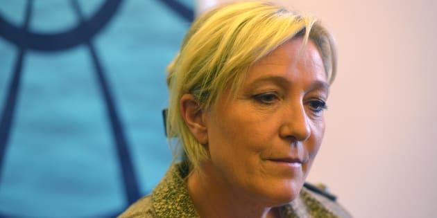 Marine Le Pen à Prague en mai 2015.