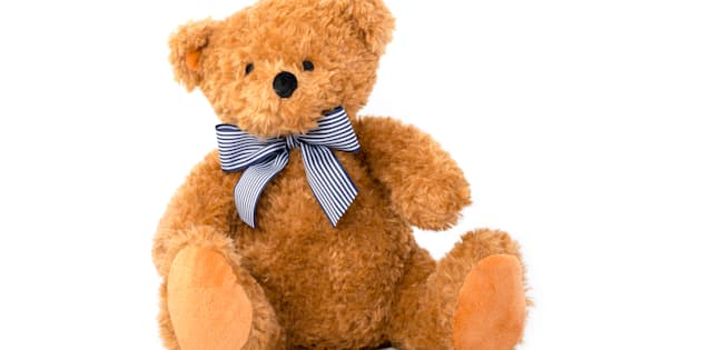Cute teddy bear isolated on white background