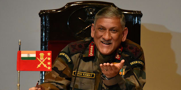 Army Chief General Bipin Rawat during the annual press conference at Manekshawa Centre on January 13, 2017 in New Delhi.