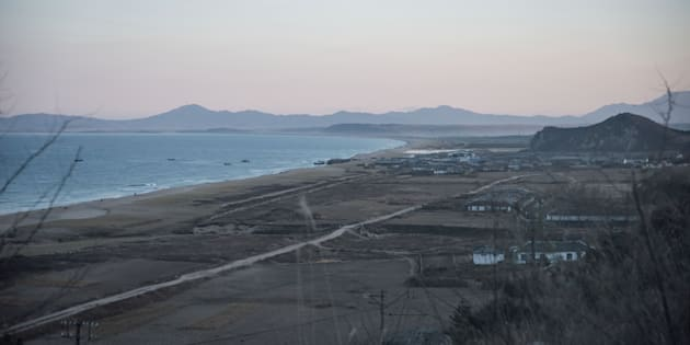This photo taken on November 21, 2017 shows a general view of the bay between Chongjin and Orang on North Korea's northeast coast. / AFP PHOTO / Ed JONES        (Photo credit should read ED JONES/AFP/Getty Images)