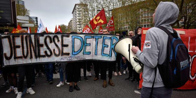 Les étudiants et lycéens se sont déjà mobilisés par le passé contre la loi Orientation et Réussite, ici à Toulouse, le 10 avril 2018.