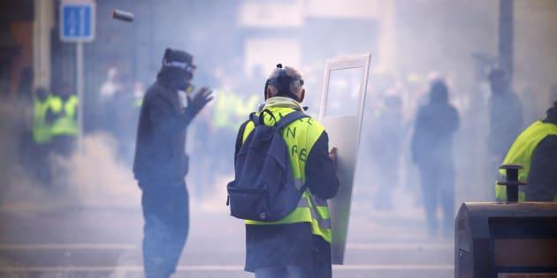 Les ultras n'ont pas pris la main sur les gilets jaunes, assure le patron de la DGSI (Photo d'illustration prise à Toulouse, samedi 16 février, lors de l'acte XIV du mouvement des gilets jaunes).