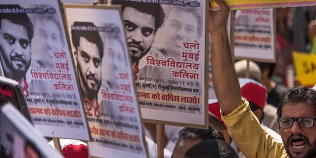Joint Action Committee for Social Justice organized huge protest rally protest march 'Chalo Mumbai University', in support of missing JNU student Najeeb Ahmed.