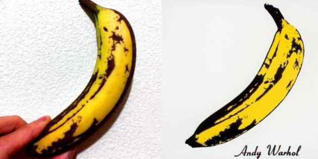 L'artiste japonais a reproduit la banane de Warhol à l'identique.