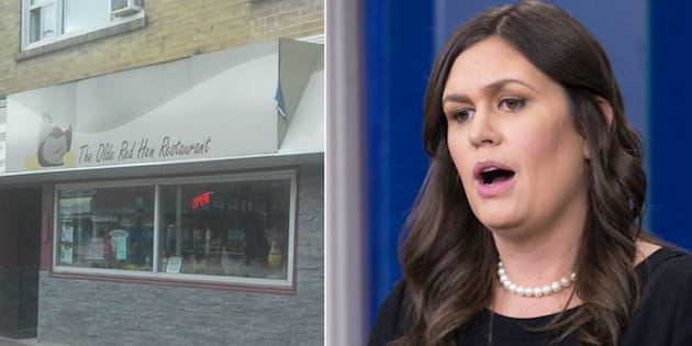 A restaurant in Ontario was inundated with nasty comments and negative online reviews after White House press secretary Sarah Huckabee Sanders was asked to leave a Virginia eatery with a similar name.