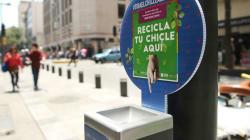 Instalan contenedores para reciclar chicles en