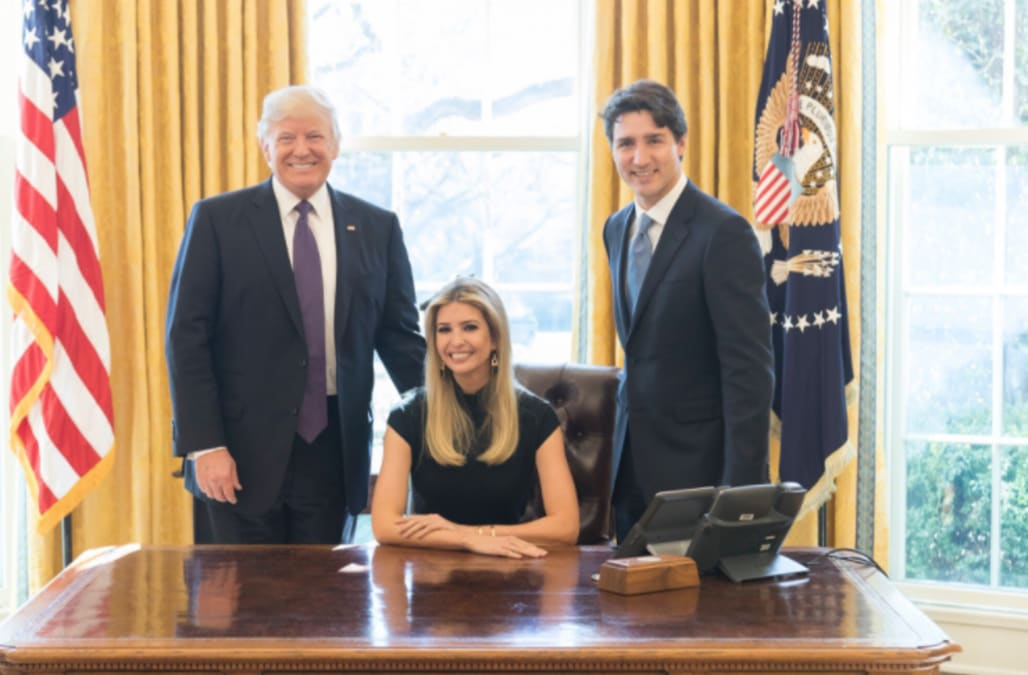 president in oval office. photo of ivanka trump sitting at president trumpu0027s oval office desk sparks social reaction in