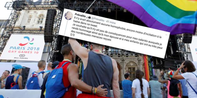 """Gay Games : le chef d'entreprise qui attaquait le """"lobby LGBT"""" s'inquiète """"des conséquences pour ses salariés"""""""