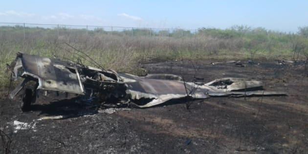 Cae avión de la Fuerza Aérea en Ixtepec, Oaxaca