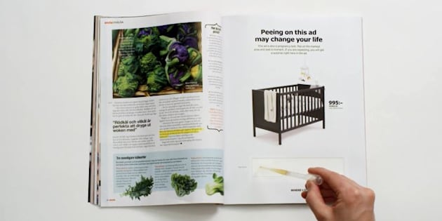 Ikea: il suffit aux femmes enceintes d'uriner sur cette publicité pour obtenir une réduction