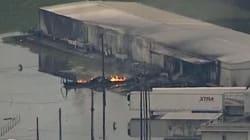 Les images de l'incendie dans l'usine française Arkema près de