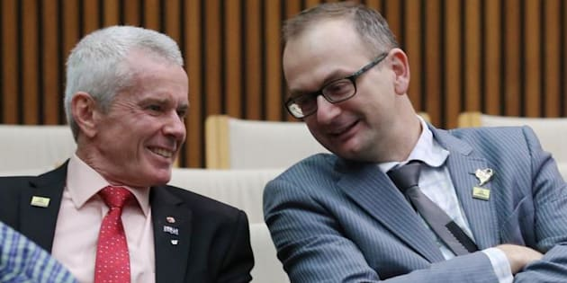 """Senator Malcolm Roberts says adviser Sean Black is a """"great asset to our team and to Pauline's team, both as a hard working aide and as a personal friend""""."""