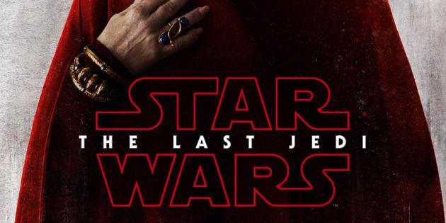"""""""Star Wars: Les Derniers Jedi""""  se dévoile dans des posters rouge sang"""