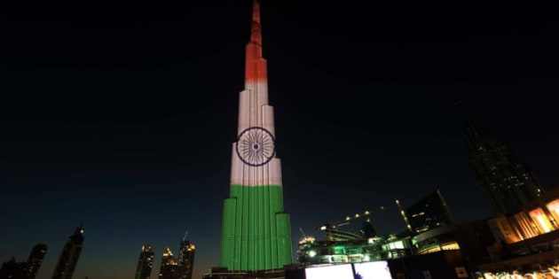 The world's tallest building will be lit up in the colours of the Indian National flag.