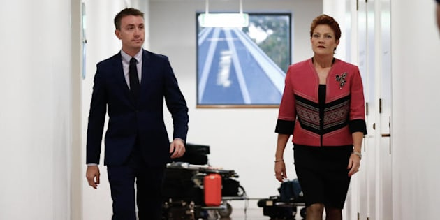 Senator Pauline Hanson and her Chief of Staff/adviser/pilot James Ashby.
