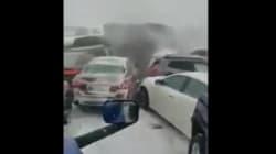 El impactante vídeo de un accidente múltiple por la nieve en