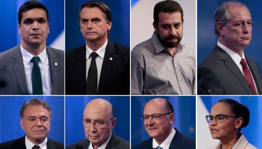 Ciro X Alckmin, Marina X Bolsonaro e metralhadora Boulos marcam 2º