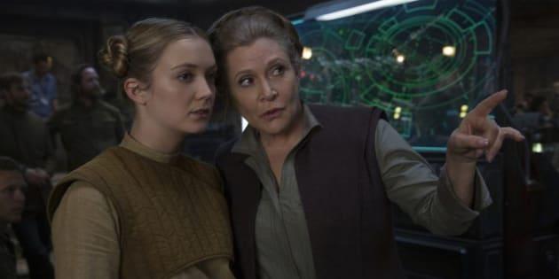 """Billie Lourd se fait une place dans """"Star Wars 8"""": Les derniers Jedi""""."""