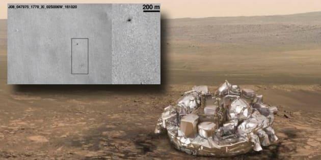 L'atterrisseur Schiaparelli de l'ESA s'est écrasé sur Mars