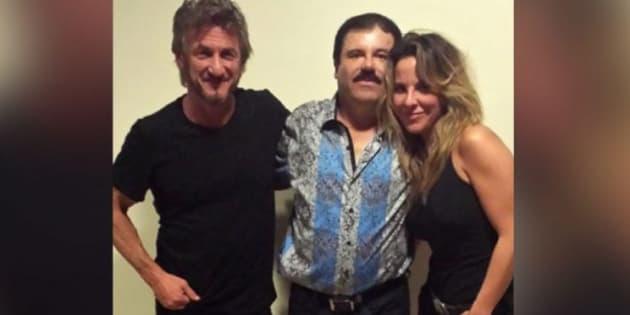 Foto del encuentro que tuvieron Kate del Castillo y Sean Penn con el Chapo Guzmán en octubre del 2015.