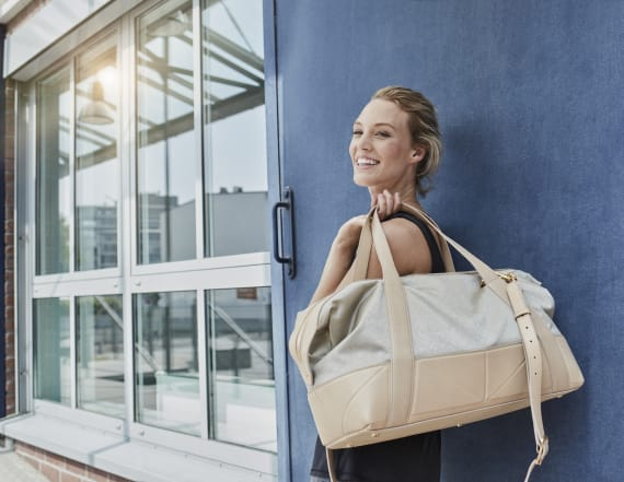 Fashionable gym bags that can also hold a computer