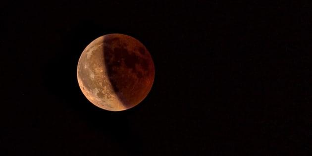 Eclipse total lunar de julio de 2018 desde Lisboa.