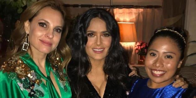 Salma Hayek presume foto con Marina y Yalitza