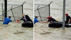 Les pro-Trump partagent en masse ce montage du président sauvant des victimes de l'ouragan
