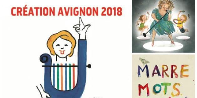 Différentes affiches de spectacles présentés lors du Off d'Avignon 2018.