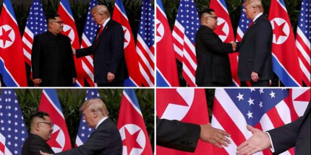 Risultati immagini per trump kim jong incontro sentosa