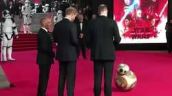 Le salut royal de BB-8 à William et Harry avant la projection de Star Wars