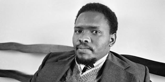 Black Activist Steven Biko, founder of the Black Consciousness Movement in King William's Town, South Africa on September 3, 1976. Date: 9/03/1976