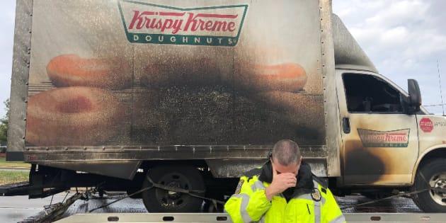 La police du Kentucky en deuil après l'incendie d'un camion de donuts