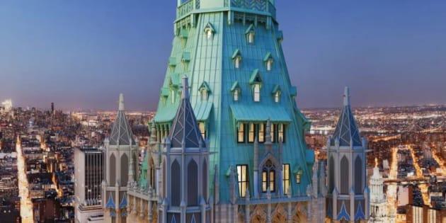 New york ce quintuplex au sommet du woolworth building est l 39 appartement - Achat appartement new york ...