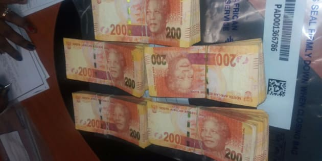 A large sum of money was found at the house where four people were arrested for alleged drug dealing. Picture: KZN SAPS