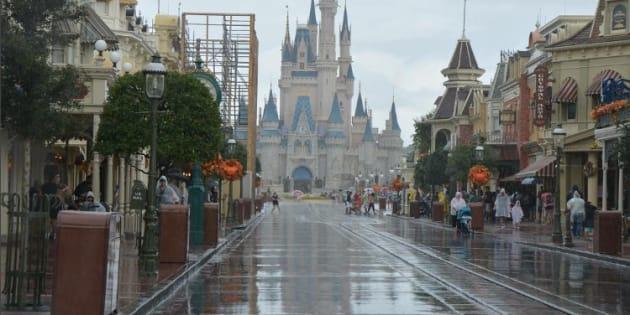 Disney World quelques heures avant l'arrivée de l'ouragan Irma.