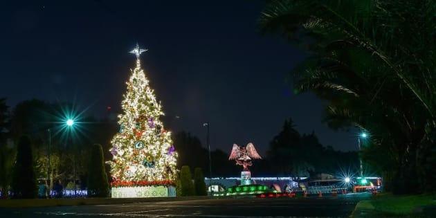 Por primera vez, brilla un pino en Los Pinos #Navidad