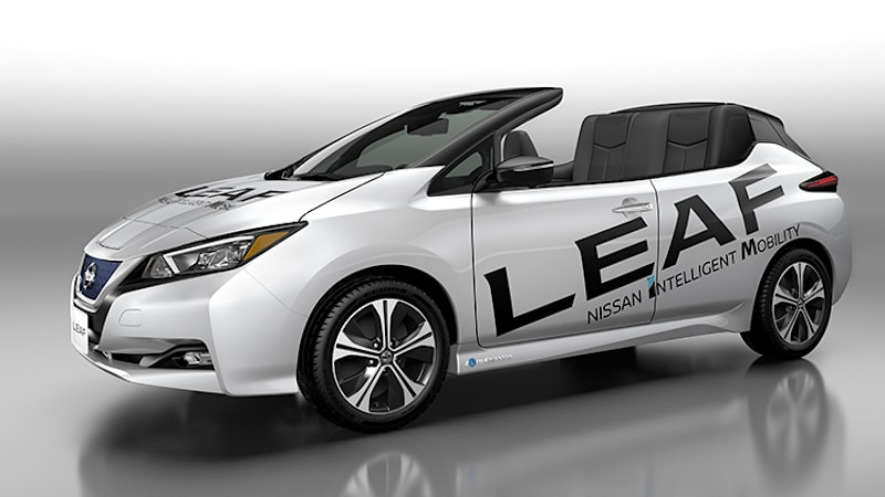 2018 Nissan Leaf gets a one-off convertible variant