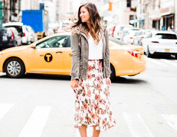 Street style tip of the day: Floral midi skirt