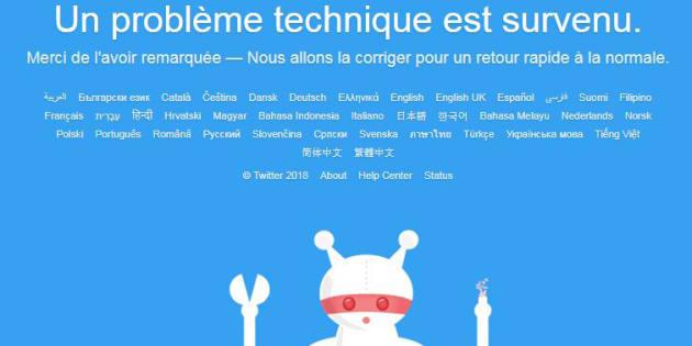 Twitter touché par une panne mondiale