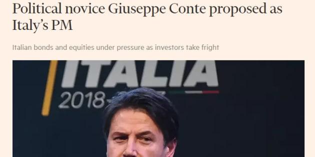 Il Financial Times dà del principiante a Giuseppe Conte, il