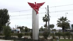 Protesters Yank Down Angel Sculpture In Athens, Saying It Looks Like