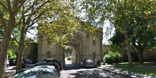 L'entrée de la maison d'arrêt de Dijon.