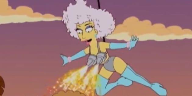 """Lady Gaga dans l'épisode """"Lisa Goes Gaga"""" de la saison 23 des """"Simpson"""""""