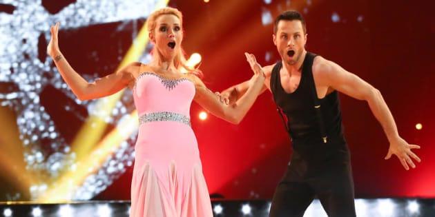 """Elogie Gossuin et Christian Millet dans la saison 8 de """"Danse avec les stars""""."""