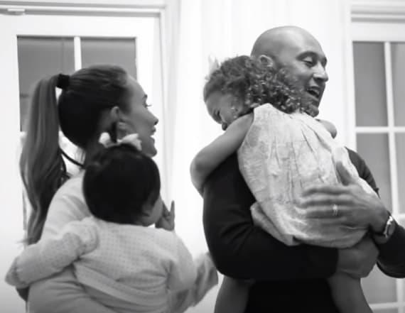 Rare footage of Derek Jeter's daughters shared