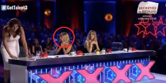 Paz Padilla, Eva Isanta y Edurne en 'Got Talent'.
