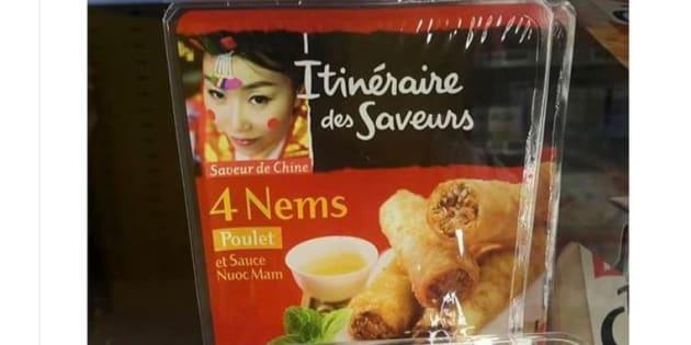 Intermarché s'est fait interpeller sur ce packaging bourré de clichés sur les asiatiques, il nous promet qu'il va rectifier le tir