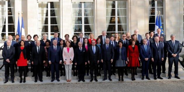 La photo du dernier gouvernement Cazeneuve